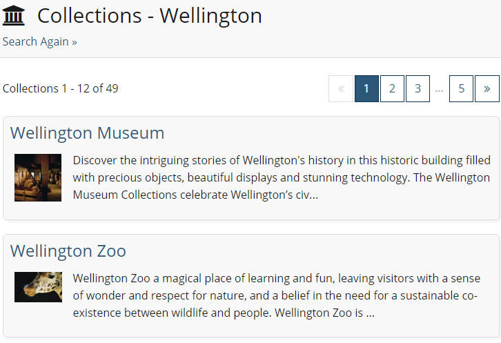 Collection Search results featuring the word Wellington