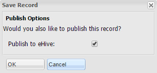 Publish Options Checkbox