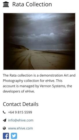 Rata Collection's Public Profile page