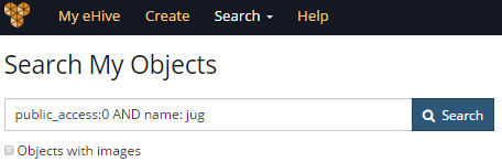 My Object search for Public records featuring the word Jug