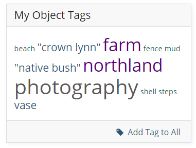 Add Tag to All beneath the Object Tag cloud