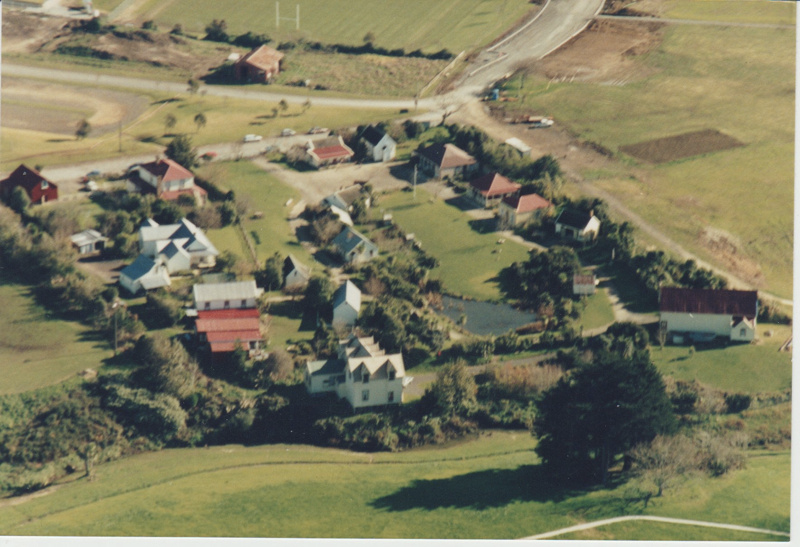 Aerial photograph of the Howick Historical Village