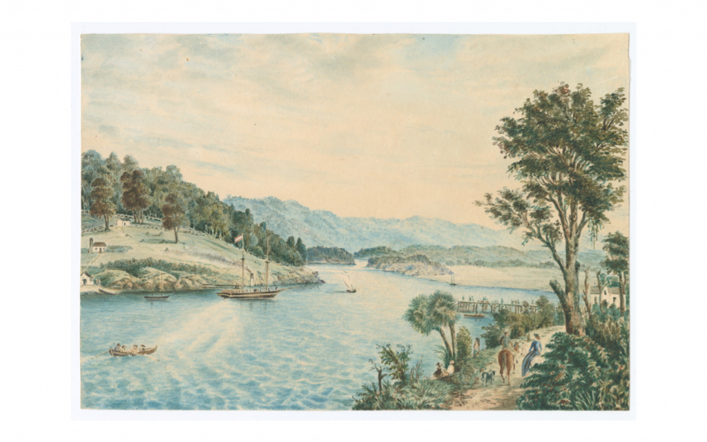 Watercolour painting of Riverton